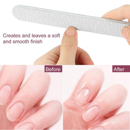 TOPINCN 50Pcs/Set Professional Acrylic Nail File Sanding Polisher Straight Sandpaper Nail Art Buffer