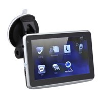 5 Inch HD Touch Screen Car GPS Navigation 128MB RAM 4GB FM Video Play Car Navigator with Back Support +Free Map