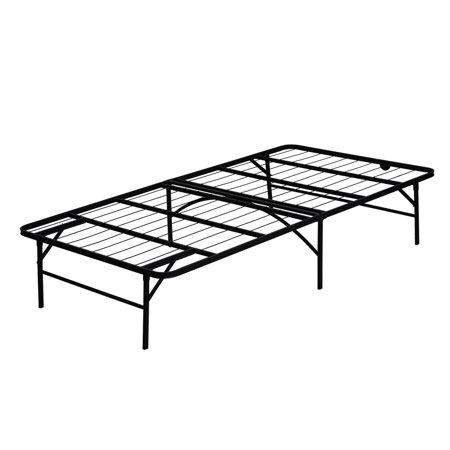 Furinno Angeland Mattress Foundation Platform Metal Bed Frame Twin