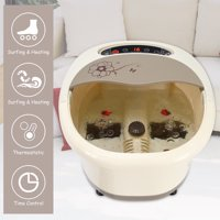 Costway Foot Spa Bath Massager Bubble Heat Infrared Temperature Control LED Display New