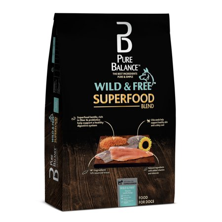 Pure Balance Wild & Free Superfood Blend Trout & Lentil Recipe Dry Dog Food, 24