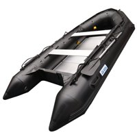BRIS 12.5Ft Inflatable Boat Inflatable Fishing Rescue Dive Boat Dinghy Raft Pontoon Boat