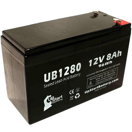 3150 Replacement (Compatible TSI Power 3150 Battery - Replacement UB1280 Universal Sealed Lead Acid Battery (12V, 8Ah, 8000mAh, F1 Terminal, AGM, SLA) - Includes TWO F1 to F2 Terminal)