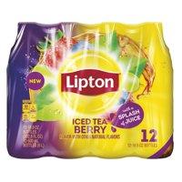 (2 Pack) Lipton Iced Tea, Berry, 16.9 Fl Oz, 12 Count