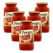 (5 Pack) Prego Spicy Sausage Meat Sauce, 23.5 oz.