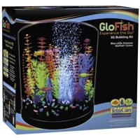 Glofish 3-Gallon LED Halfmoon Aquarium Starter Kit