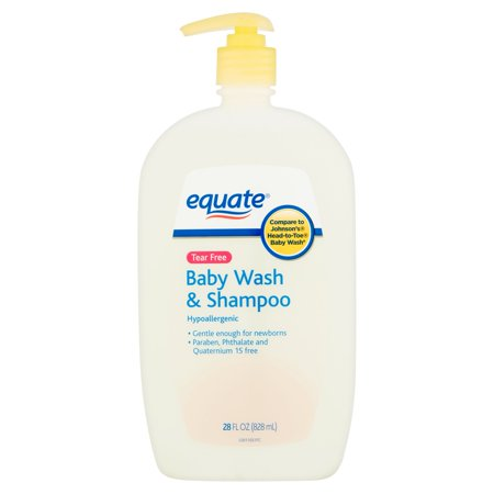 (3 pack) Equate Tear-Free Baby Wash & Shampoo, 28 Fl