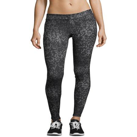 Sport Women's Performance Leggings - Black Liquid Leggings