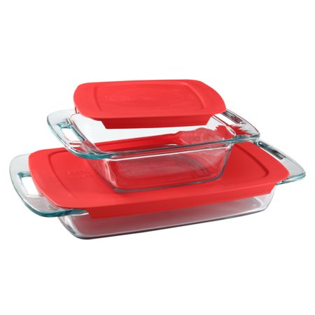 Pyrex Easy Grab 4-piece Bakeware Set