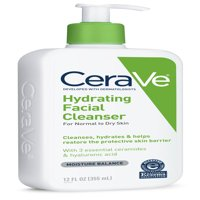 CeraVe Hydrating Facial Cleanser, Daily Face Wash for Normal to Dry Skin, 12 oz.