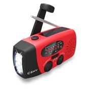 1e0d576b842 Esky Mulit-Pupose Emergency Solar Hand Crank AM  FM  NOAA Weather Radio with