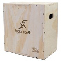 ProsourceFit 3-in-1 Wood Plyometric Jump Box for CrossFit, Agility, Vertical Jump Training and Plyo Workouts, 24/20/16 and 30/24/20
