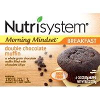 Nutrisystem Morning Mindset Double Chocolate Muffins, 2 Oz, 4 Ct