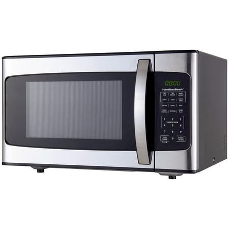 Hamilton Beach 1.1 Cu. Ft. 1000W Stainless Steel (Best Countertop Microwave With Trim Kit)