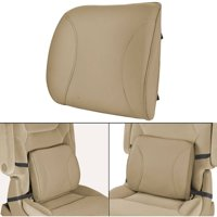 MotorTrend Lumbar Back Support, Portable Orthopedic Lumbar Back Support Memory Foam and PU Leather Seat Cushion