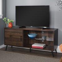 """Manor Park 52"""" Mid-Century Modern TV Stand Media Storage Console - Dark Walnut"""