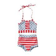 1181c5295b Kids Baby Girls Swimwear Dots Straps Swimsuit Bathing Suit Toddler Bikini  Set