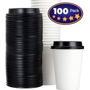 e1736356f4 Restaurant Grade 12 Oz Paper Coffee Cups With Recyclable Dome Lids. 100  Pack By Avant