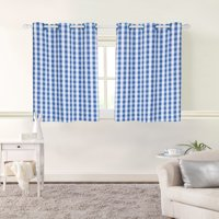 Mainstays Room Darkening Gingham Single Panel Window Curtain