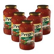 (5 Pack) Prego Fresh Mushroom Italian Sauce, 24 oz.