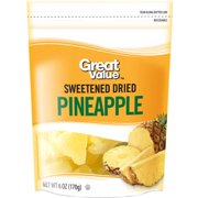 (4 Pack) Great Value Sweetened Dried Pineapple, 6 oz
