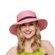 PaZinger Women Floppy Sun Beach Straw Hats Wide Brim Packable Summer Cap 6e492fede56