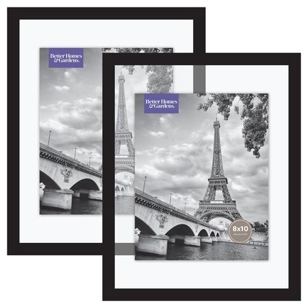 Better Homes & Gardens Float Picture Frame, Black, Set of 2 ()