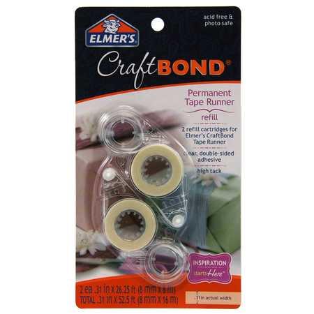 Repositionable Tape Runner (Elmer's Craft Bond High Track Permanent Tape Runner Refill, 2 Count )