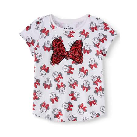 All-Over Minnie Bow Graphic T-Shirt (Little Girls & Big Girls)](Butterfly Shirts For Girls)