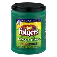 Folgers Classic Decaf Medium Ground Coffee, 11.3 oz