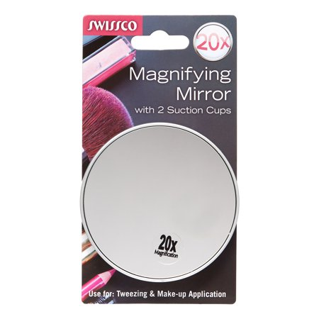 Fogless Suction Cup Mirror - Swissco Suction Cup Mirror 20x Magnification