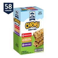 Quaker Chewy Granola Bars Variety Pack, 58 Count