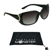 dab140c1a7 Bifocal Reading Sunglasses for Women. Classic   Sexy Jackie O Inspired  Black Frame with Gold