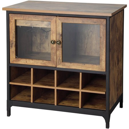 Better Homes and Gardens Rustic Country Wine Cabinet, Pine (Powell Wide Cabinet)