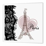 79271a50fe12f 3dRose Paris Eiffel Tower with Heart and black lace