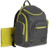 BB Gear Spaces and Places Backpack Diaper Bag, Gray