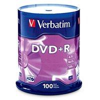 Verbatim DVD+R (4.7 GB) (16X) Branded Surface (Pk=100/Spindle) 95098