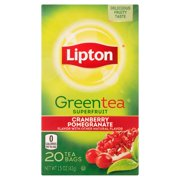 (4 Boxes) Lipton Green Tea Bags Cranberry Pomegranate 20 ct