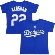7107a95502a Clayton Kershaw Los Angeles Dodgers Majestic Toddler Player Name and Number  T-Shirt - Royal