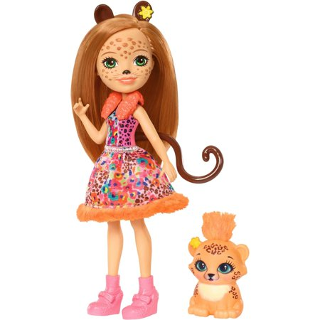 Enchantimals Cherish Cheetah Doll & Quick-Quick Cheetah Friend Figures