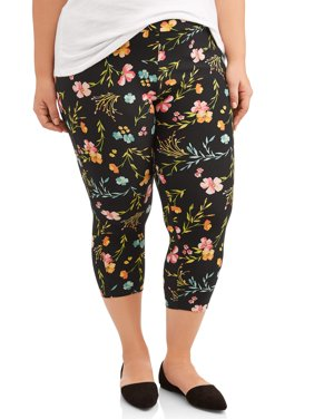 Women's Plus Size Super Soft Capri Legging