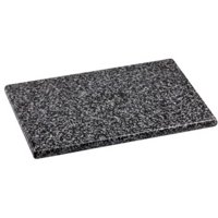 "Home Basics 8"" x 12"" Granite Cutting Board, Black"