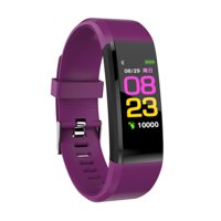 Bluetooth Sport Fitness Smart Watch Wrist Band Bracelet Heart Rate Monitor Activity Tracker For Android iOS(Purple)