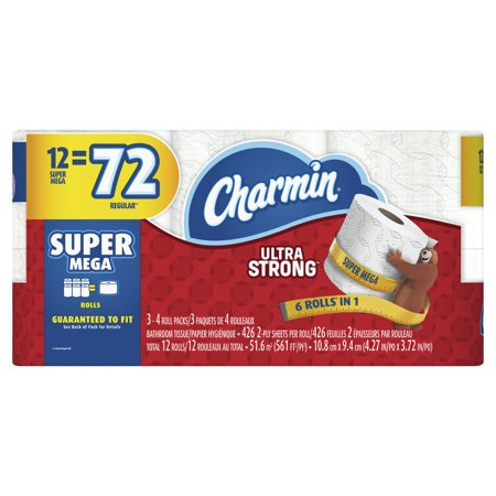 Charmin Ultra Strong Toilet Paper 12 Super Mega Roll Charm In Big Roll