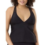 3f1e4c31a82 Women's Plus-Size Fashion Mesh Swim Halterkini Top