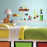 RoomMates Nintendo Super Mario Build a Scene Peel and Stick Wall Decals