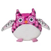 Small Bellapops Plush Owl Pillow by Ganz - White & Pink Flowers