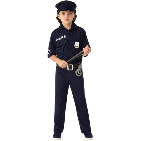 Police Child Halloween Costume](Blonde Afro Halloween Costume)
