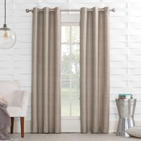 Sun Zero Caleb Linen Texture Thermal Insulated Energy Efficient Grommet Curtain Panel
