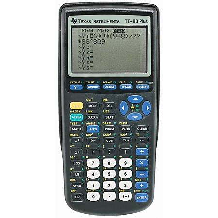 Texas Instruments Ti 83 Plus Programmable Graphing Calculator 10 Digit Lcd